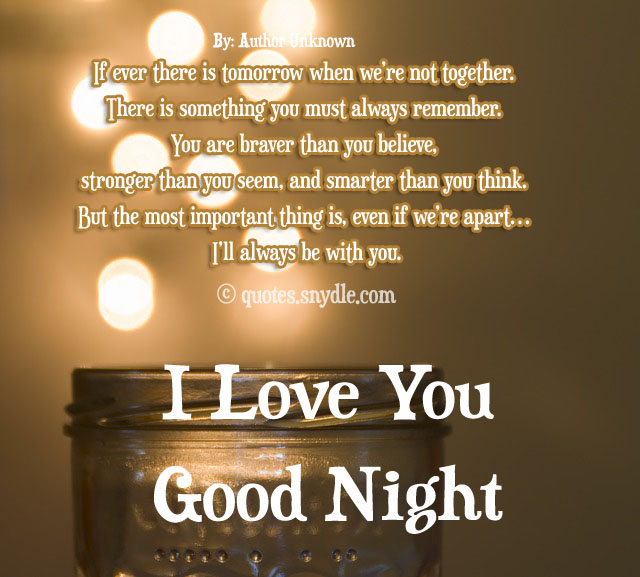 Sweet Goodnight Love Quotes And Sayings with Images - Quotes and Sayings