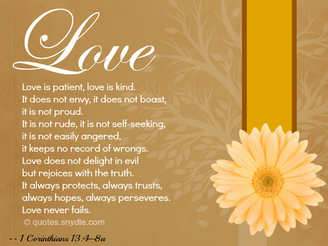 Bible Quotes about Love and Marriage – Quotes and Sayings