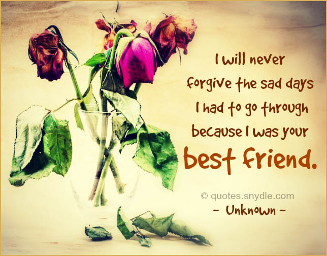 Sad Friendship Quotes And Sayings With Image
