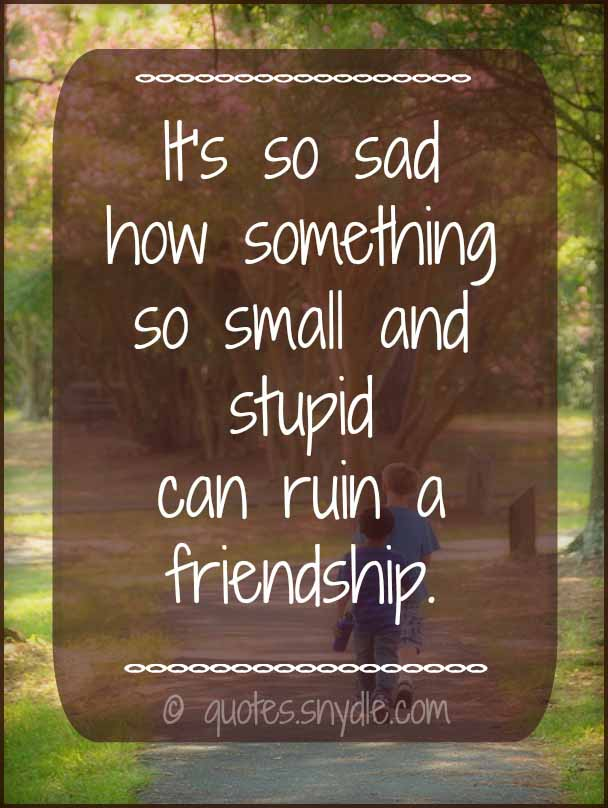 Short Sad Friendship Quotes With Picture