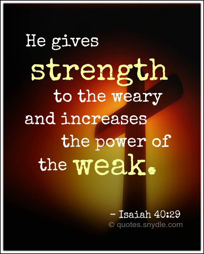 Bible Quotes About Strength With Image