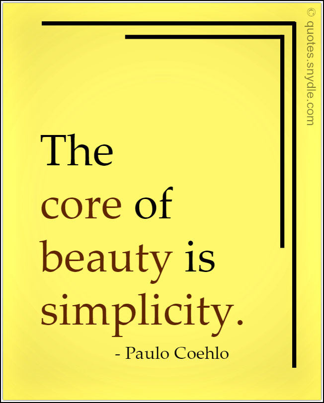 Quotes about Simplicity with Image - Quotes and Sayings