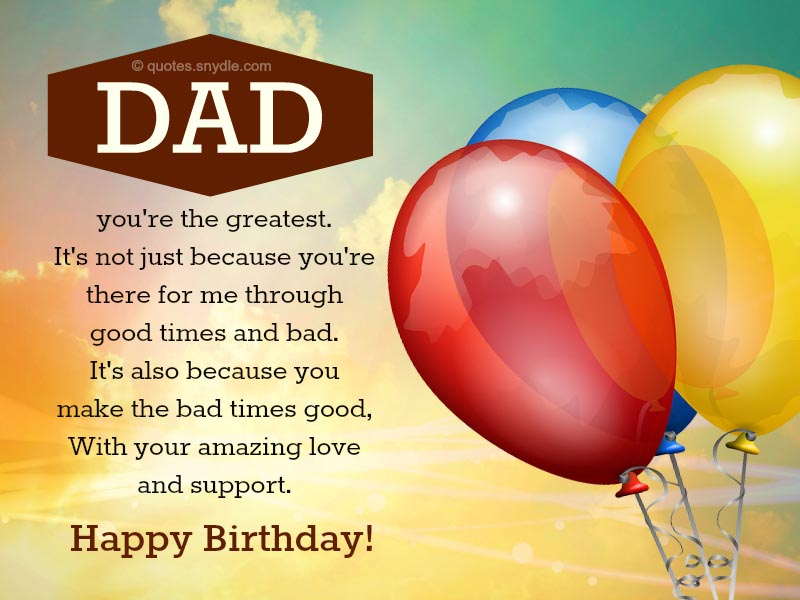 Happy Birthday Dad Quotes Quotes And Sayings
