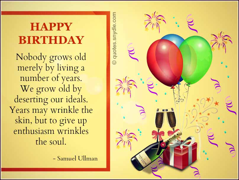 Inspirational Birthday Quotes Quotes and Sayings – Inspirational Birthday Card