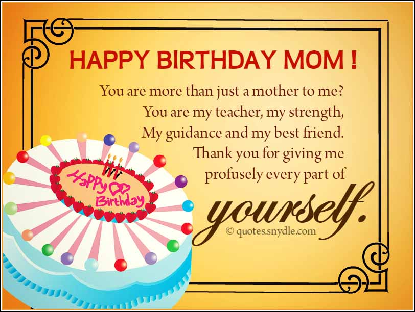 Happy Birthday Mom Quotes Quotes And Sayings